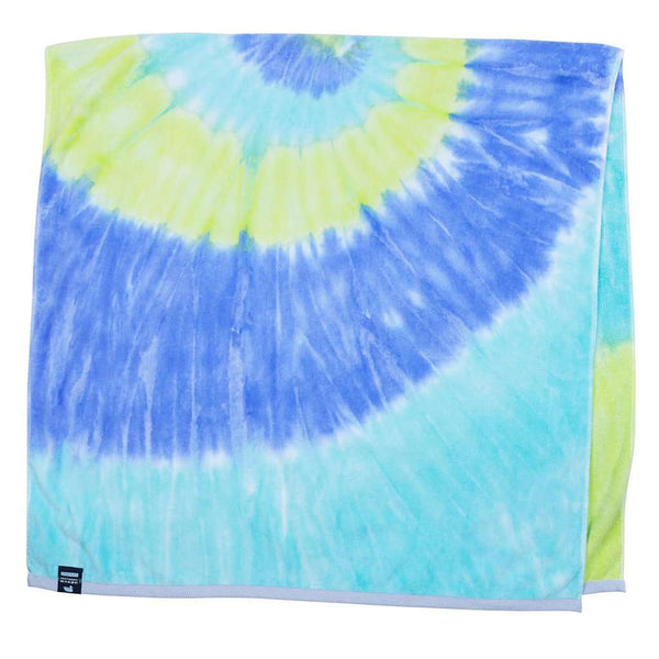 Tie Dye Beach Towel in Lilac Lime & Teal by Southern Marsh - FINAL SALE