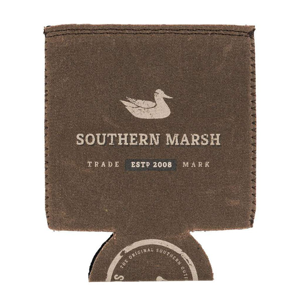 Southern Marsh Waxed Cotton Drink Holder in Brown