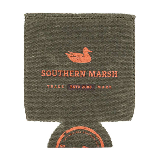 Southern Marsh Waxed Cotton Drink Holder in Dark Green by Southern Marsh