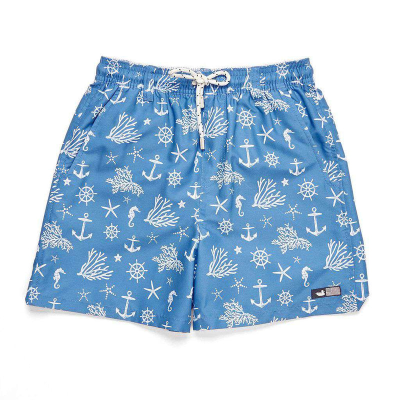 Southern Marsh Boys' Anchors Dockside Swim Trunk by Southern Marsh