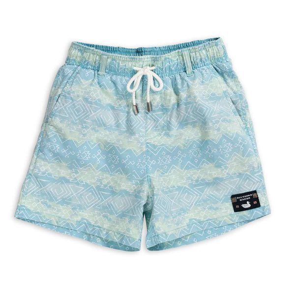 Youth Shoals SEAWASH™ Swim Trunk - Mayan Watercolor by Southern Marsh