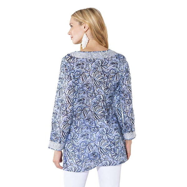 South Sail Long Sleeve Monkey Print Tunic Top by Sail to Sable