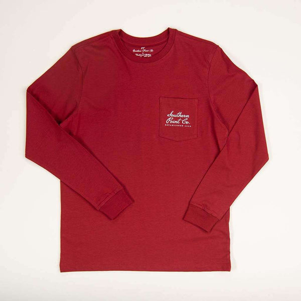 Southern Point Christmas Reindeer Long Sleeve Tee by Southern Point Co.
