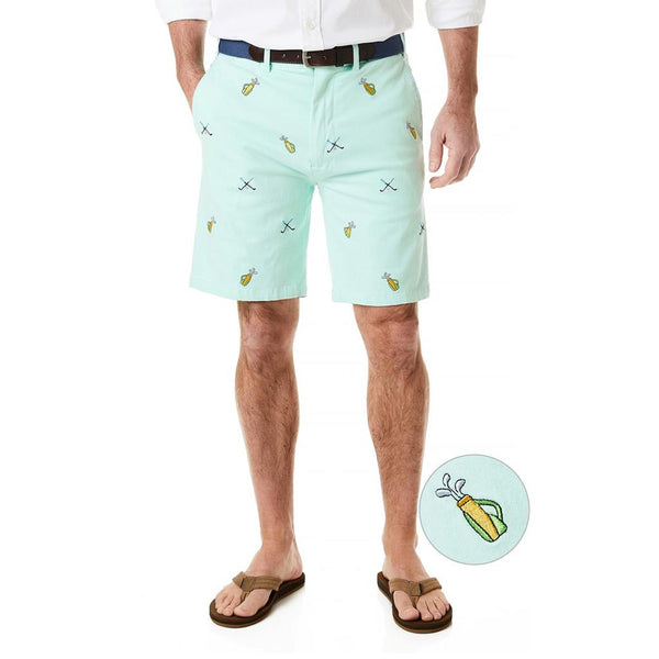 Stretch Twill Cisco Short with Embroidered Golf Clubs & Bag by Castaway Clothing