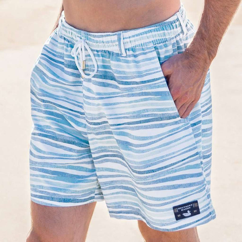 Southern Marsh SEAWASH™ Shoals Swim Trunk - Waves by Southern Marsh