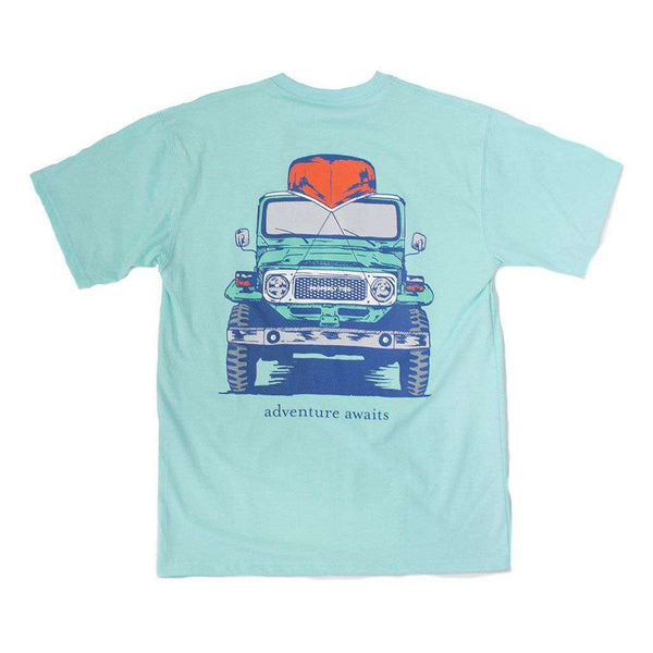 Properly Tied Boys Short Sleeve Adventure Awaits Tee in Seafoam