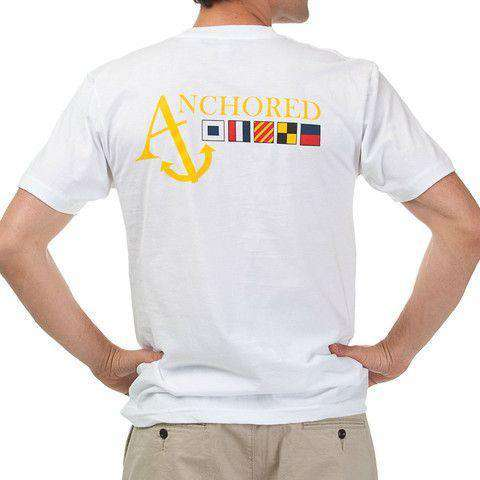 Nautical Flag Tee Shirt in White by Anchored Style