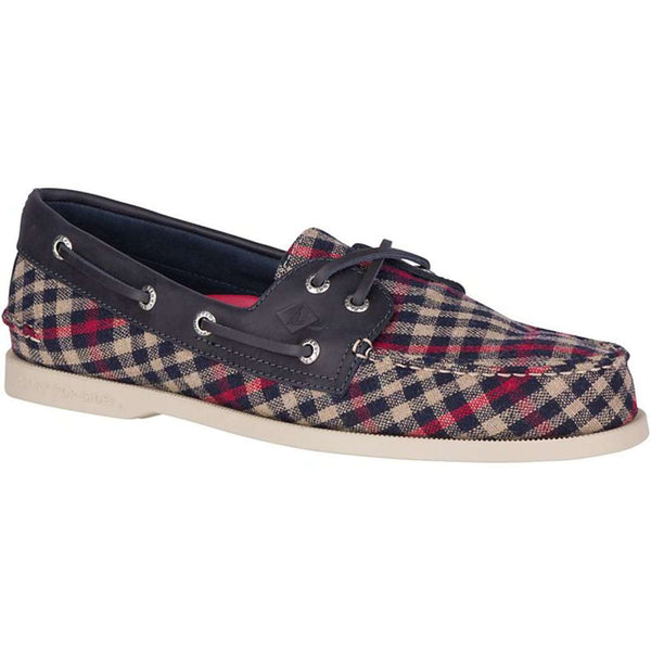 Country Club Prep Navy and Red Plaid / 9