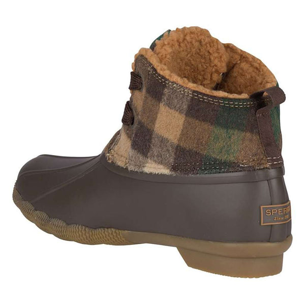 Sperry Women's Saltwater 2-Eye Plaid Wool Duck Boot by Sperry