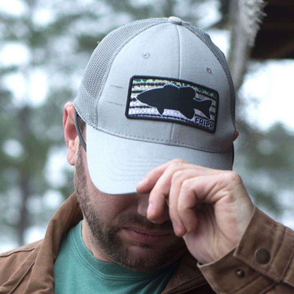 Fripp & Folly Bass Skin Structured Mesh Back Hat by Fripp Outdoors