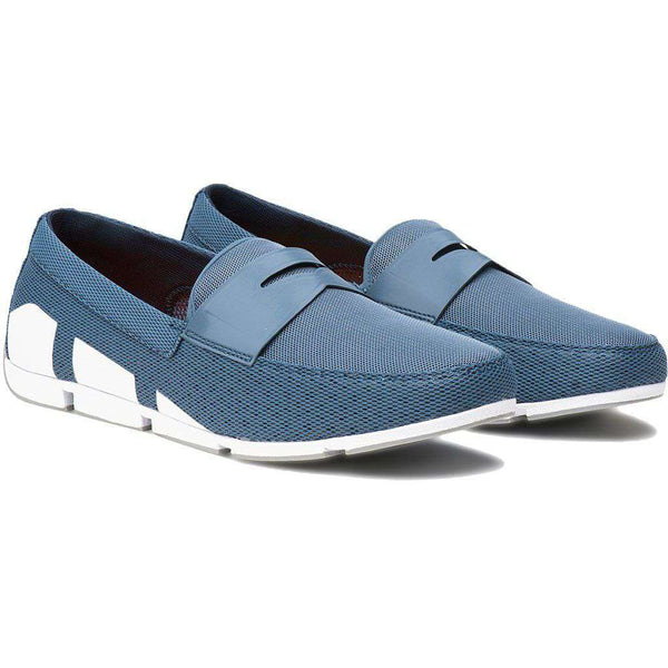 SWIMS Breeze Penny Loafer in Slate, White & Light Gray