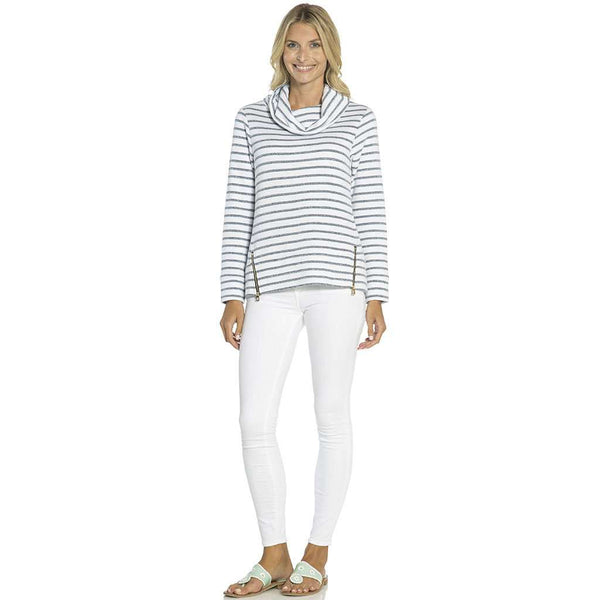 Sail to Sable French Terry Top in Navy