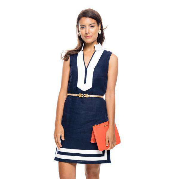 86acfdd696f Sail to Sable The Classic Sleeveless Dress in Peacoat Navy and White by Sail  to Sable ...