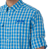 Sailfish Plaid Fishing Shirt in Blue Stream by Southern Tide  - 5