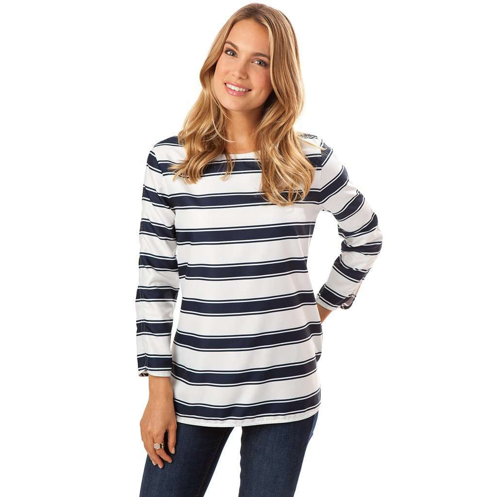 Sailor Stripe Shirt in Nautical Navy by Southern Tide  - 1