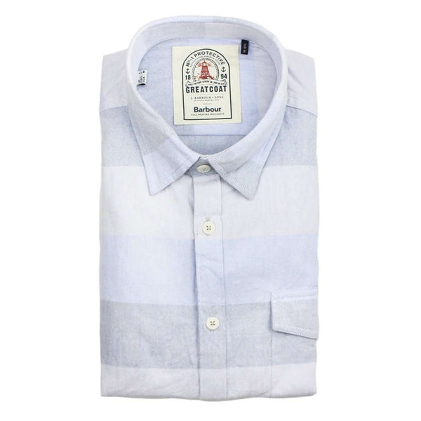 Sailor Tailored Fit Button Down in Sky Blue by Barbour  - 1