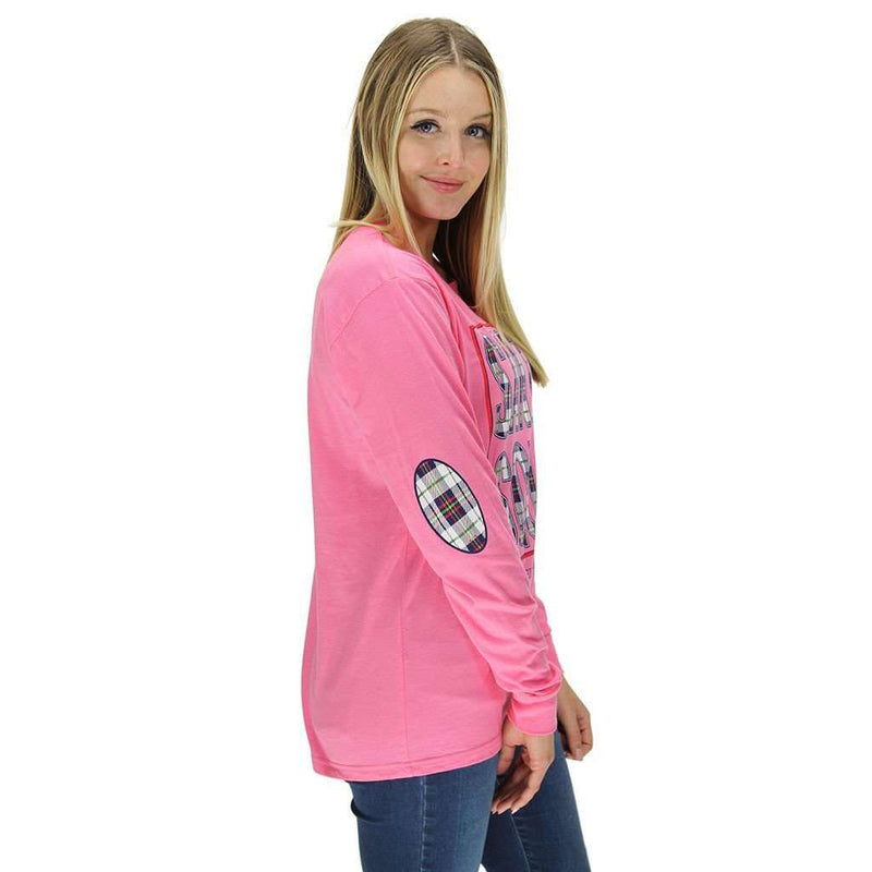 Santa's Squad Long Sleeve Tee in Pink Heather by Jadelynn Brooke
