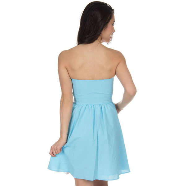 The Savannah Solid Seersucker Dress in Powder Blue by Lauren James  - 2