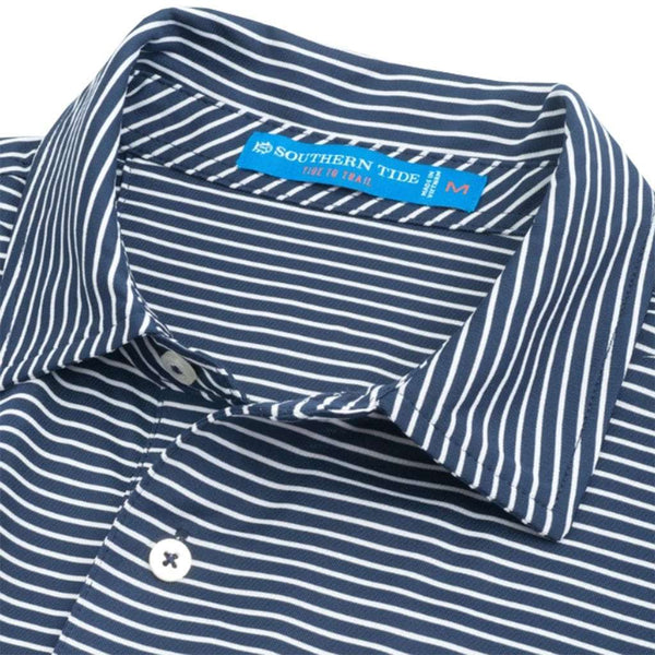 Southern Tide University of Virginia Cavaliers Striped Performance Polo Shirt by Southern Tide