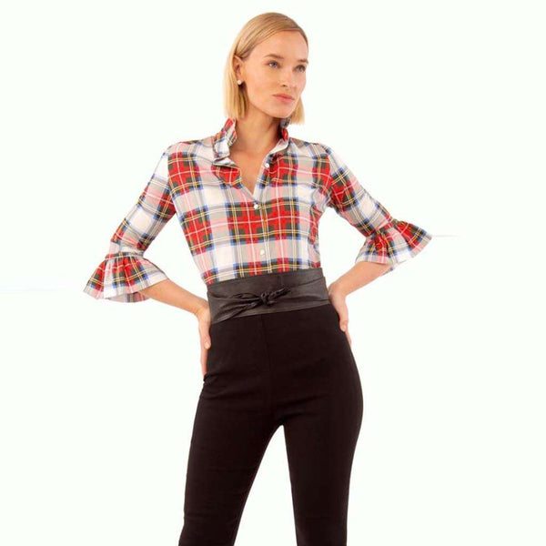 Country Club Prep White Plaid Multi / XS
