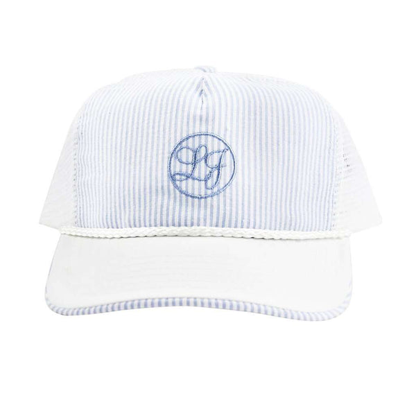 Seersucker Snapback Hat in Light Blue by Lauren James  - 1