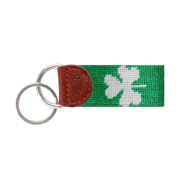 Shamrock Key Fob in Kelly Green by Smathers & Branson