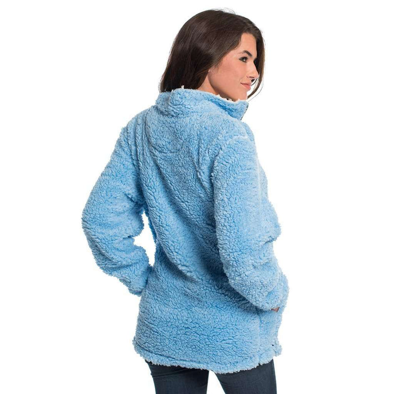 Sherpa Pullover with Pockets in Placid Blue by The Southern Shirt Co.