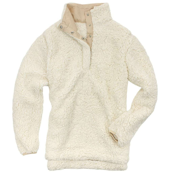 Completely new Sherpa Snap Pullover in Ivory by Everest Clothing - FINAL SALE  PM71
