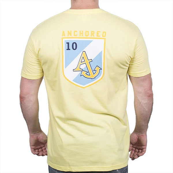Shield Tee Shirt in Butter Yellow by Anchored Style  - 1