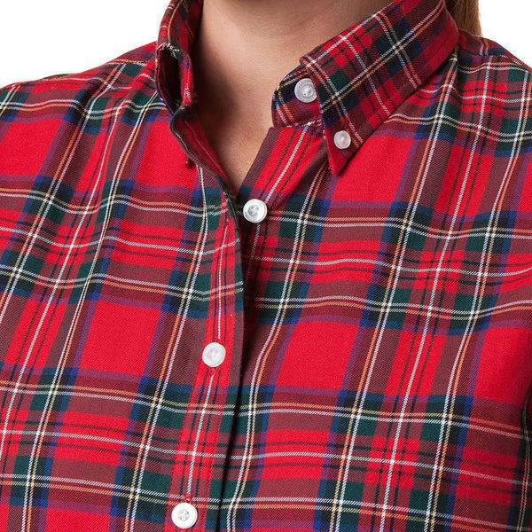 Castaway Clothing Ladies Button Down Flannel Shirt by Castaway Clothing
