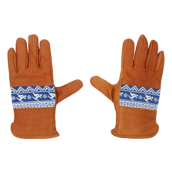 Skier Fairisle Needlepoint Gloves by Smathers & Branson