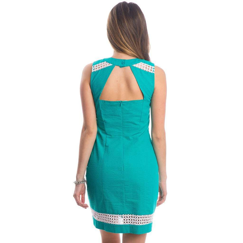 Sloane Solid Seersucker Dress in Lagoon by Lauren James - FINAL SALE