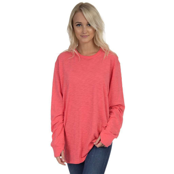 Slouchy Tee in Coral by Lauren James  - 1