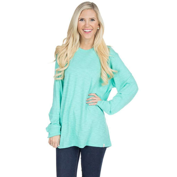 Slouchy Tee in Seafoam by Lauren James  - 1