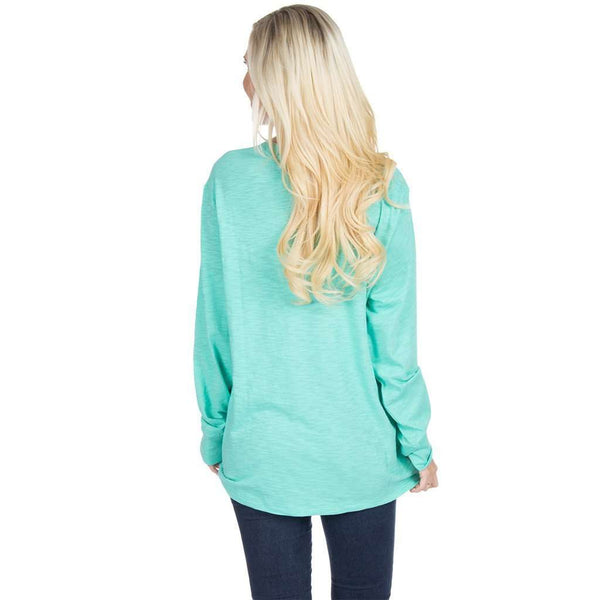 Slouchy Tee in Seafoam by Lauren James  - 2