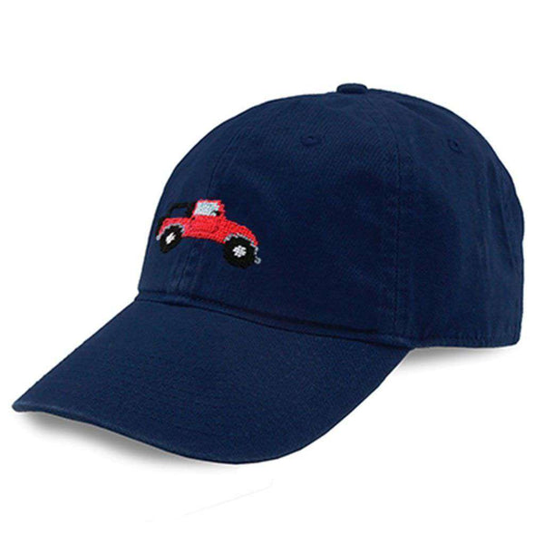 Smathers and Branson Beach Truck Needlepoint Hat in Navy by Smathers & Branson