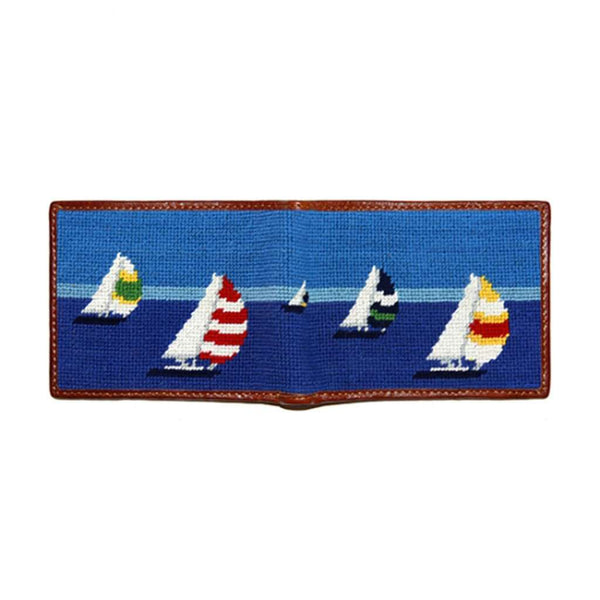 Regatta Needlepoint Bi-Fold Wallet by Smathers & Branson