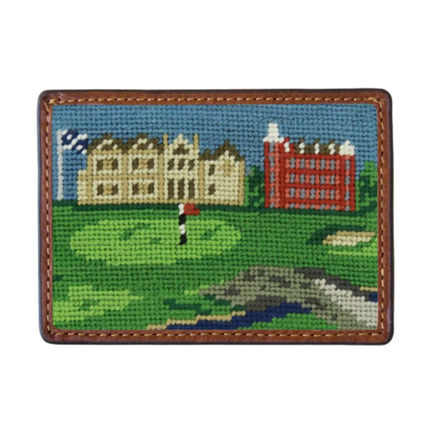 St Andrews Scene Needlepoint Credit Card Wallet by Smathers & Branson