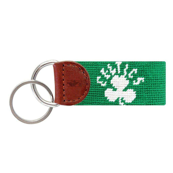 Boston Celtics Needlepoint Key Fob in Light Emerald by Smathers & Branson