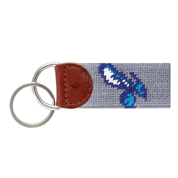 Smathers & Branson Charlotte Hornets Needlepoint Key Fob in Grey