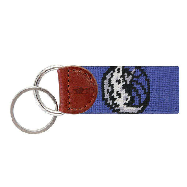 Smathers and Branson Dallas Mavericks Needlepoint Key Fob in Royal Blue by Smathers & Branson