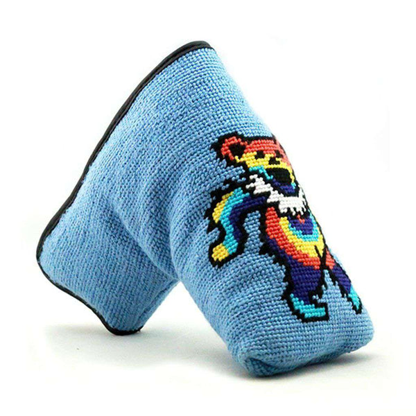 Dancing Bear Tie Dye Needlepoint Putter Headcover by Smathers & Branson