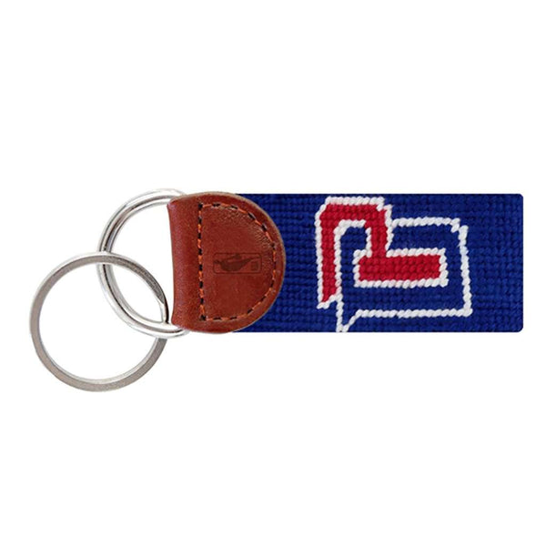 Detroit Pistons Needlepoint Key Fob in Dark Royal Blue by Smathers & Branson