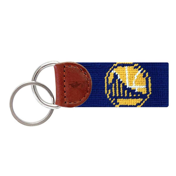 Smathers and Branson Golden State Warriors Needlepoint Key Fob in Dark Royal Blue by Smathers & Branson