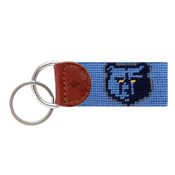 Memphis Grizzlies Needlepoint Key Fob in Stream Blue by Smathers & Branson