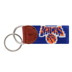 New York Knicks Needlepoint Key Fob in Dark Royal Blue by Smathers & Branson