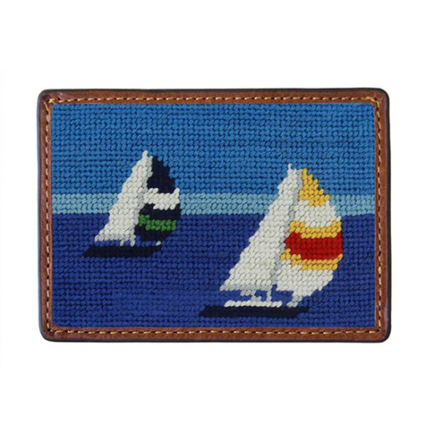 Regatta Needlepoint Credit Card Wallet by Smathers & Branson