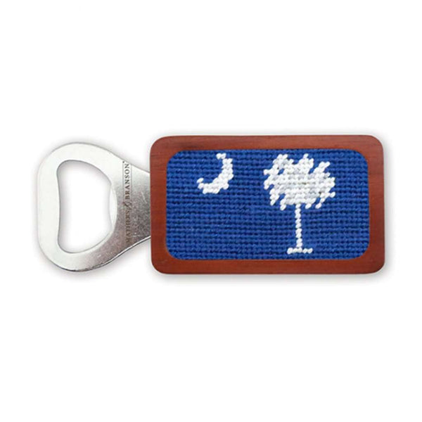 Smathers & Branson SC Flag Needlepoint Bottle Opener in Blueberry