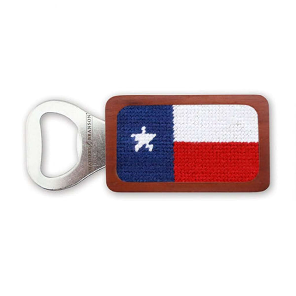 Smathers & Branson Texas Flag Needlepoint Bottle Opener