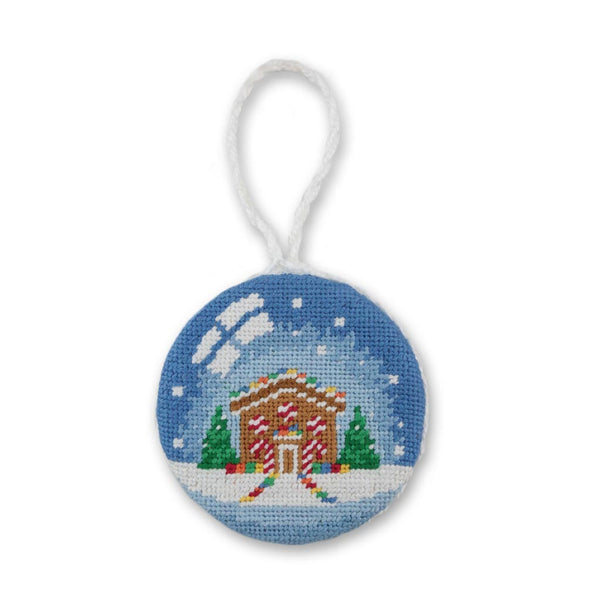 Snow Globe Needlepoint Ornament by Smathers & Branson